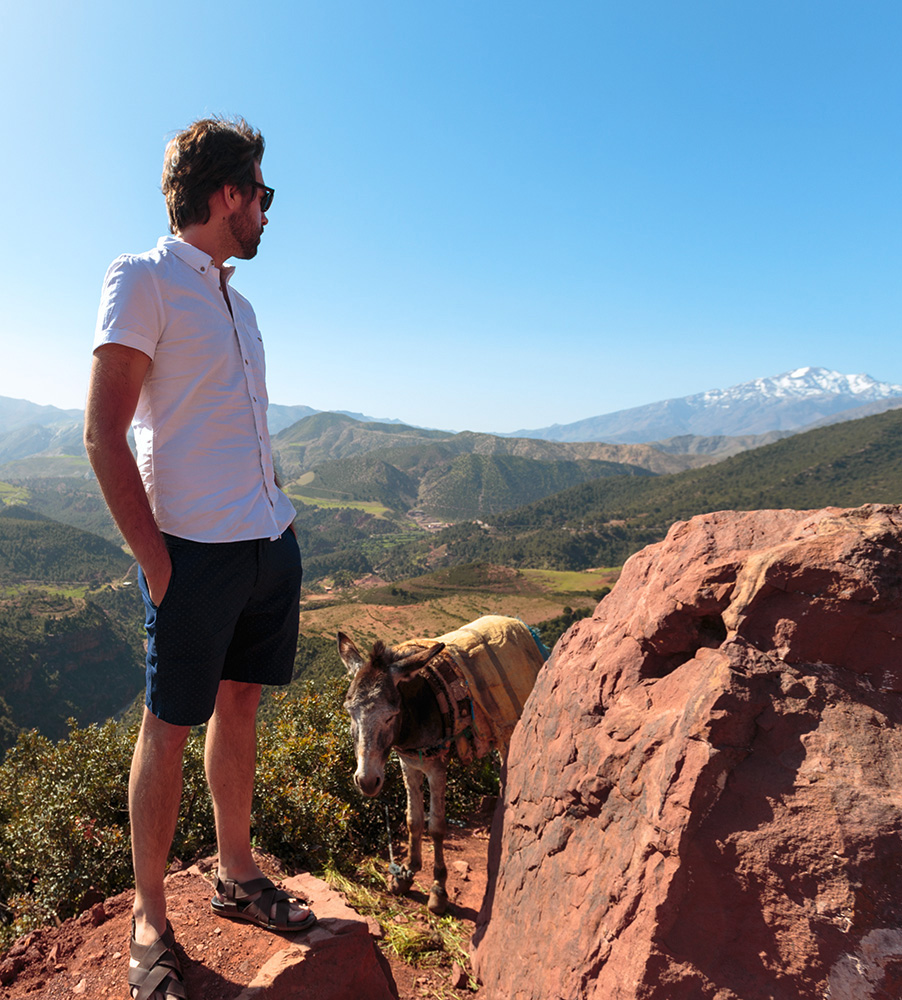 A photo of Sebastian Anthony, in the Atlas Mountains, Morocco